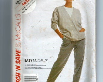 McCall's Misses' Cardigan and Pants for Stretch Knits Only Pattern 4623