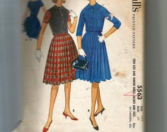 McCall's  Teen Dress Pattern 5563