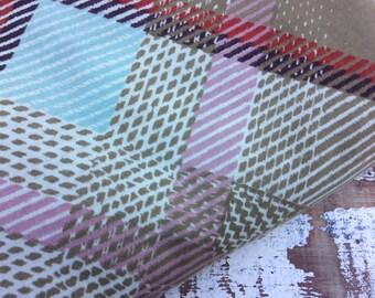 Fall Plaid Fabric-Basket Weave-Cotton Blend