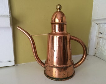 ODI Copper Turkish Coffee Pot / Portugal / Tea Coffee Water Pot Pitcher / Watering Can / Marked