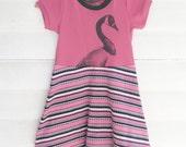 3/4 Girls Magenta Goose Skater Dress