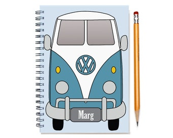 VW Split Window Single Cab Weekly Planner,  2017-2018 Planner, Car Enthusiast, Present for Man, Brother, Husband, Double Cab SKU: pligum