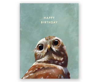 Burrowing Owl Birthday - Birds - Greeting - Stationery