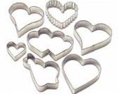 Wilton Hearts Cookie Cutter Set 7 pc - New!