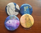 "Doctor Who 1.25""  Pin Set (4 pins)"