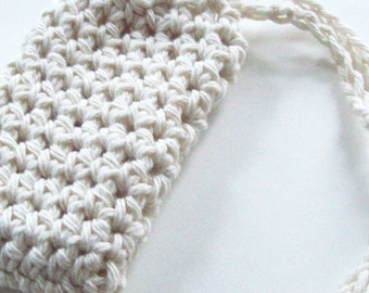 Cotton Crochet Soap Saver, Ecru Soap Saver, Soap Sack, Soap Bag, Ecofriendly, Reusable
