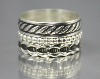 Boho Rings, Sterling Silver Rings, Stacking Rings
