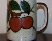 Vintage Otagiri Grand Mug Red Apples Fruit Tree Large Coffee Cup