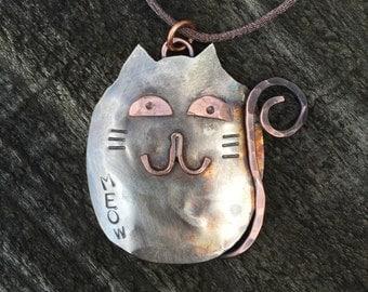 Spoon Cat Ornament