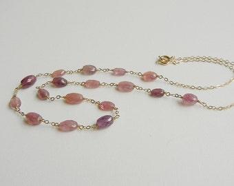 Pink Sapphire Aphrodite Necklace