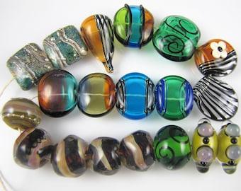 BARGAIN BEADS  Lampwork Hollow Glass Beads (19)