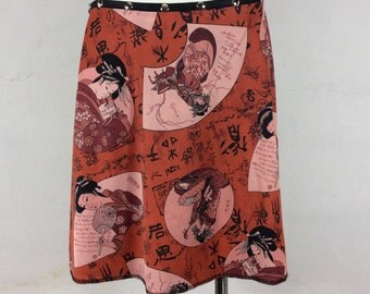 "Snap Around Skirt ""Geisha Petal""  FREE SHIPPING"