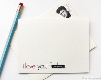 Valentines Day Card. Love Card. Funny Birthday Card. Love You F*cker. Snarky Blank Card. Mature. All Occasion Card.