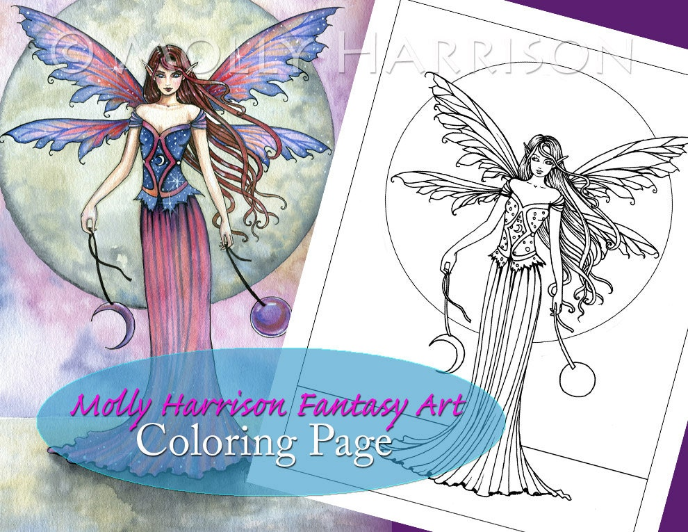 jewel fairies coloring pages - photo#22