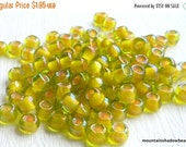 "25% OFF Summer Sale 6/0 Toho Seed Beads - Jonquil Apricot Lined - 2.5"" Tube (A18-4)"