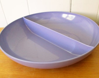 vintage purple melmac divided bowl Royalon