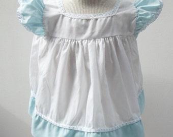 Sweet little girl's blue and white Dress