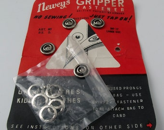 Vintage Sheet of Newey's Gripper Fasteners - Craft Supplies