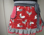 Special Order for GABRIELA............Plus Size Rooster Apron -  Annies Attic Aprons