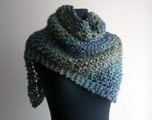 Hand Knit Triangle Shawl