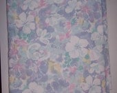"""Violet Floral Print Cotton Poly Fabric 2yd 54"""" wide"""