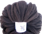 Black Alpaca Merino Top, Spinning Fiber, Felting Fibre, Black Roving, Combed Top, 2 ounces