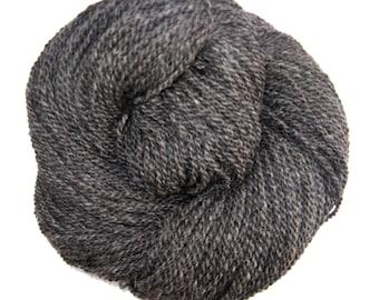 Gray Wool and Alpaca Yarn, for Knitting, Crochet, Weaving, and Felting, Farm Fresh, Heavy Worsted, 250 yards