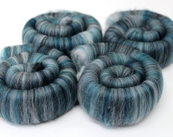 Punis Rolags Merino Wool Spearmint Fine Merino fibre for felting and  hand spinning 100g 200g 500g