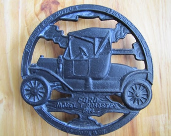 MODEL T ROADSTER 1914 Cast Iron Trivet Greenfield Village