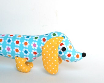 Wiener Dog Softie for Kids, Plush Dog, Toy Dachshund, Plush Wiener Dog, New Baby Gift,  Stuffed Doxie RORY