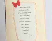 Motivational Inspirational Original Poetry Card