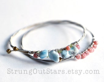 Pastels - Strung-Out guitar string bangle duo