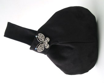 evening purse, black evening bag, black wristlet, evening handbag, bridesmaid bags, vegan bag