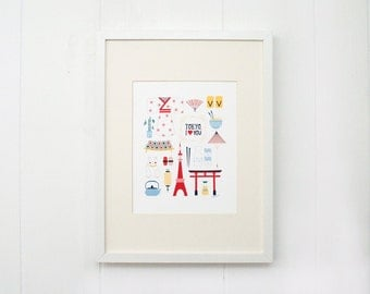 I Love Tokyo Print