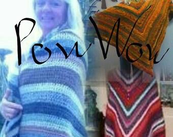 PDF PowWow Shawl Crochet Pattern