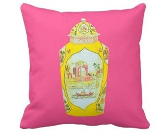 ROYAL WORCESTER JAR Pillow 4 sizes - 2 colors (indoor and outdoor fabrics)