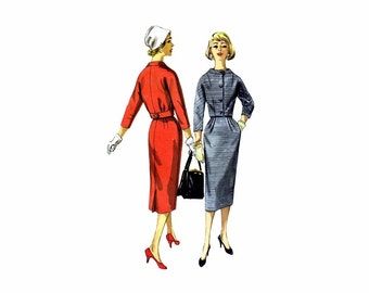 1950s Junior Misses Jacket Skirt Suit Simplicity 1954 Vintage Sewing Pattern Size 11 Bust 31 1/2