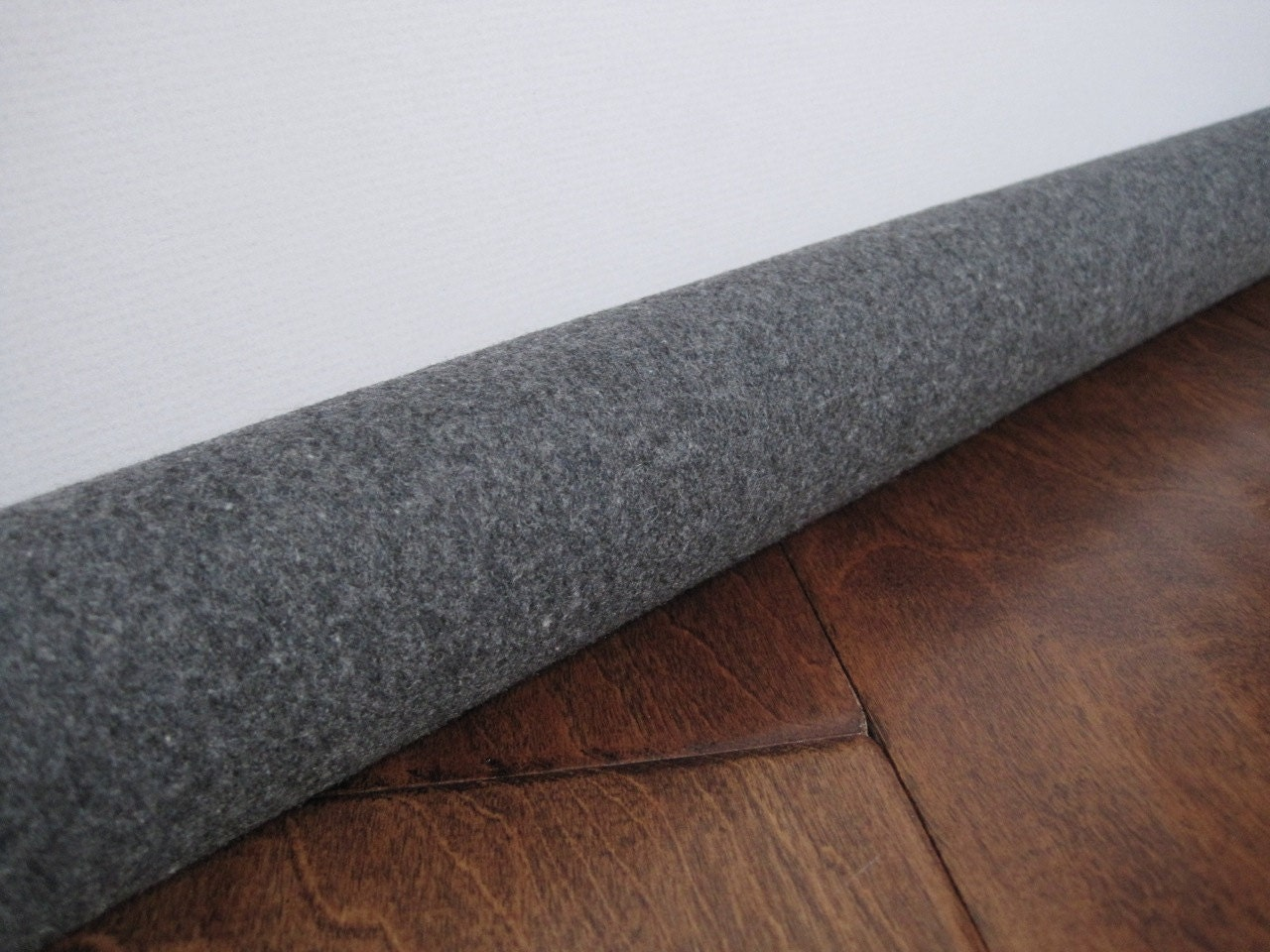 Custom length door draft stopper gray wool draft snake for Door draft stopper