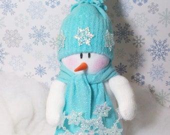 Love all the Flakes: Snowman table top decoration snowmen fabric stuffed