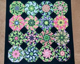 Mixed Fruit Kaleidoscope Quilt