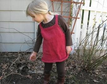 Raspberry Wool Tunic Size 4T