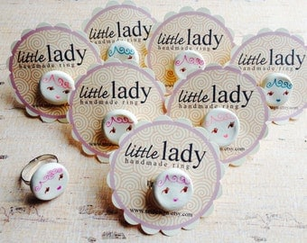 Little Lady Clay Adjustable Ring