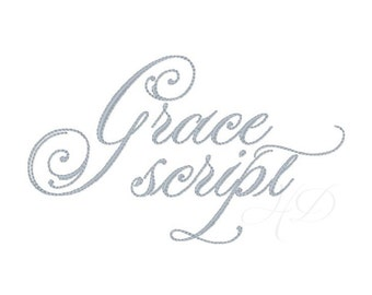 "1"" inch Vine Monogram Embroidery Font Satin Stitch Embroidery Grace 4x4   BX instant download"