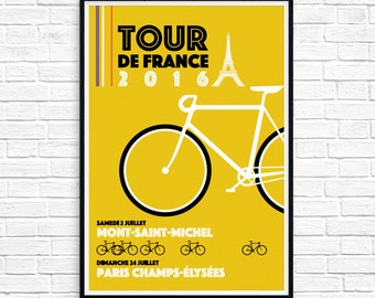 2016 tour de france poster print ++ special edition ++ modern wall art  ++ INsTAnT DOwNLoAD ++ handmade design