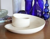 Whirl Porcelain Ceramic Serving Plate