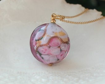 Alessandrite Venetian Murano Glass Necklace