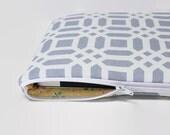 "Women's Laptop Sleeve Case, Dell XPS 13 Case, MacBook Sleeve, 11""-15"" Chromebook Case Cover - Gray Lattice"