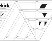 SALE - Sidekick acrylic ruler by Jaybird Quilts cuts diamonds triangles