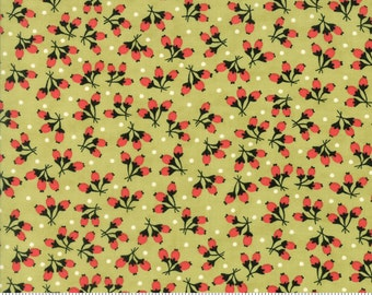 Chestnut Street - Cotton Puffs in Moss Green: sku 20275-16 cotton quilting fabric by Fig Tree and Co. for Moda Fabrics - 1 yard