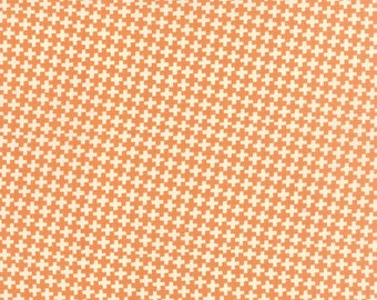 """28"""" piece/remnant - Farmhouse - Check Criss Cross in Pumpkin: sku 20256-12 cotton quilting fabric by Fig Tree and Co for Moda Fabrics"""